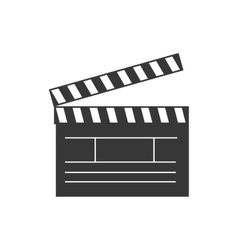 clapboard cinema theater vector image