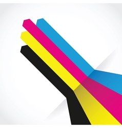 cmyk arrow lines vector image