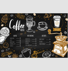 Coffee and bakery restaurant menu 2 vector