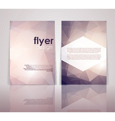 Double sided flyer design vector