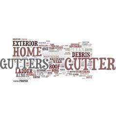 Essential gutter maitenance tips text background vector