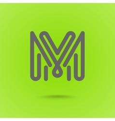 Graphic line font logo element letter l vector
