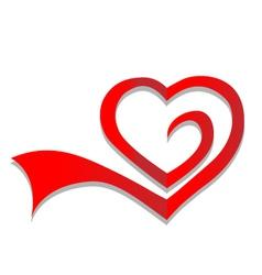 Heart symbol logo vector image