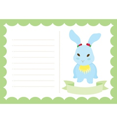 Little bunny new born vector