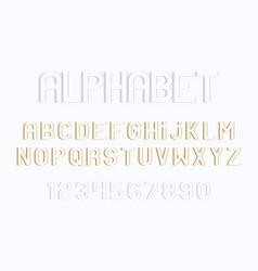 Minimal font and alphabet vector