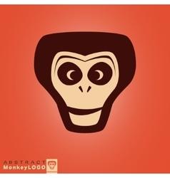 Monkey logo template vector