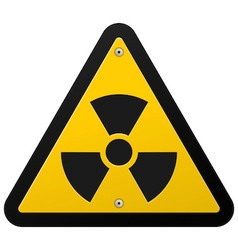 Nuclear Radiation Symbol vector image