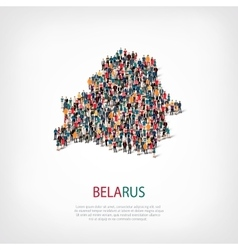 people map country Belarus vector image