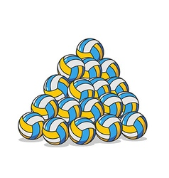 Pile volleyball ball many volleyball balls sports vector