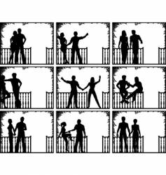 porch people vector image vector image