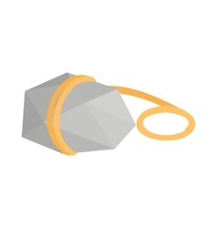Stone with rope icon isometric 3d style vector