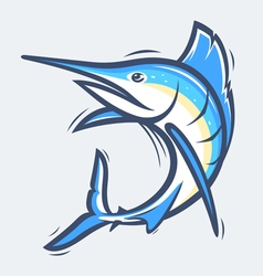 Swordfish sea life vector image
