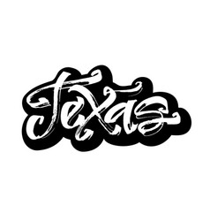 texas sticker modern calligraphy hand lettering vector image