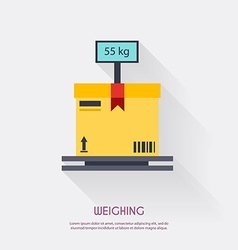 Weighing Warehouse icons logistic blank and vector image