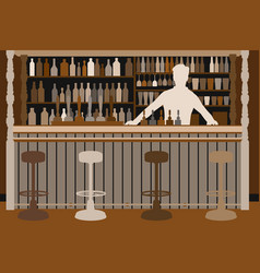 welcoming barman vector image vector image