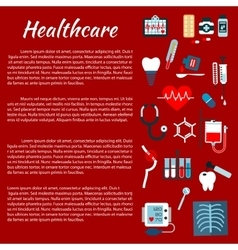 Healthcare medical infographic leaflet vector