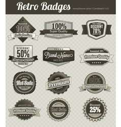 Retro badges vector
