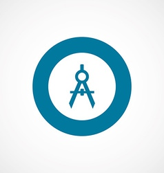 Compasses bold blue border circle icon vector