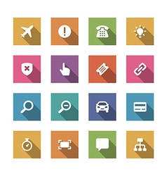 Flat icons set for design web sites and mobile vector