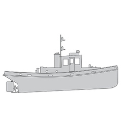 Tugboat vector image