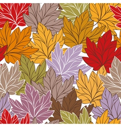 Abstract autumn seamless vector