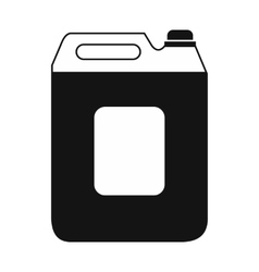 Black plastic canister flat icon vector