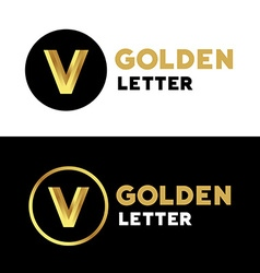 Letter v number 5 logo icon design template vector