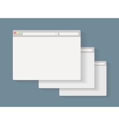 Simple set of browser window vector