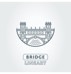 Bridge and river symbol vector