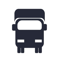 Transportation design truck icon flat and vector