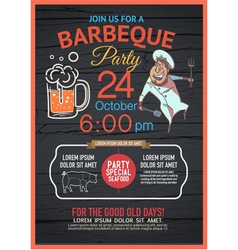 BBQ party menu vector image vector image