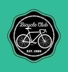 Bicycle logo1 vector image vector image