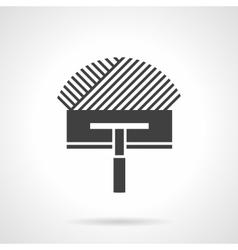Black design icon for trowel vector