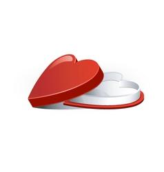 chocolate heart box vector image