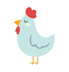 Cool cartoon chicken clipart vector image