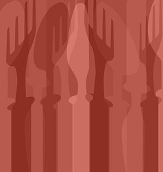 Cutlery background vector