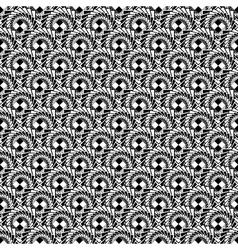 Design seamless monochrome spiral pattern vector image vector image