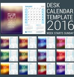 Desk Calendar for 2016 Year Stationery Design vector image