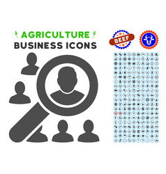 Find user icon with agriculture set vector