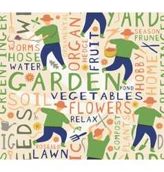 Gardener seamless tile vector image vector image