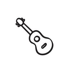 Guitar sketch icon vector