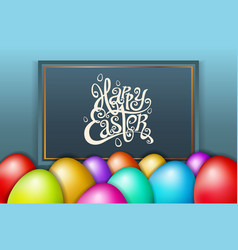 happy easter lettering modern calligraphy vector image