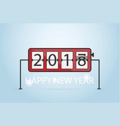 happy new year 2018 flip clock concept vector image