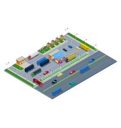 Isometric Road Highway Infrastructure vector image