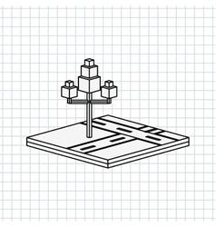 Isometric tree icon design vector