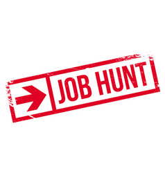 Job hunt rubber stamp vector
