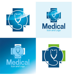 Medical icon and logo vector