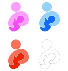 mum and newborn vector image