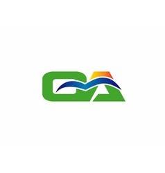 Oa initial company group logo vector