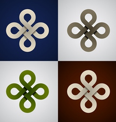 paper endless celtic knots vector image vector image